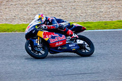 125cc的丹尼肯特飞行员在MotoGP的 免版税库存图片