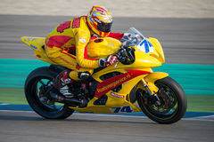 1000cc emballant sur TTT Assen Circuit Photographie stock libre de droits