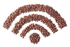 'CC$FI' symbol od kawowych fasoli Obrazy Royalty Free