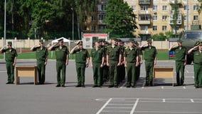 CC$PETERSBURG ROSJA, CZERWIEC, - 20, 2019: Rosyjscy wojsko żołnierze zbiory