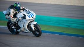 1000cc rennend op TT Assen Circuit Stock Fotografie