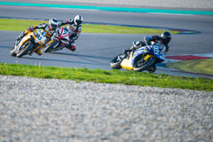 1000cc rennend op TT Assen Circuit Stock Afbeeldingen