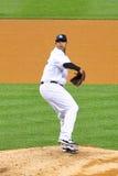 CC Sabathia Yankees Pitcher. CC Sabathia Yankees baseball player in pinstripe uniform number 52 Stock Image