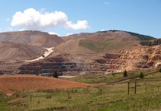 CC and V Gold Mine. An active gold mine located between the small mining towns of Cripple Creek and Victor in Colorado Stock Photography