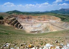 CC and V Gold Mine. Inside an active gold mine located between the small mining towns of Cripple Creek and Victor in Colorado Royalty Free Stock Image