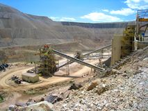 CC and V Gold Mine. Inside an active gold mine located between the small mining towns of Cripple Creek and Victor in Colorado Stock Photo