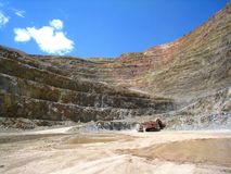 CC and V Gold Mine. Inside an active gold mine located between the small mining towns of Cripple Creek and Victor in Colorado Stock Image