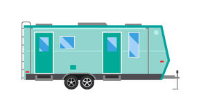 Ccaravan travel car vehicle trailer house summer vacation vector. Royalty Free Stock Images