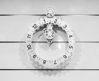 CCassic clock with moving pointer Royalty Free Stock Photo