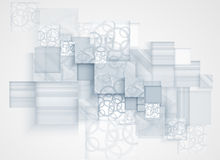 CCB abstracto del negocio de la tecnología del cubo del ordenador del circuito de la estructura Imágenes de archivo libres de regalías