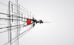 CCB abstrato do negócio da tecnologia do cubo do computador do circuito da estrutura Foto de Stock