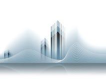 CCB corporativo del modelo de las propiedades inmobiliarias del asunto del vector Fotos de archivo