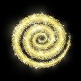CCB de oro de la textura del Año Nuevo del extracto del vector del círculo del brillo del oro Imagen de archivo libre de regalías