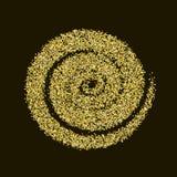 CCB de oro de la textura del Año Nuevo del extracto del vector del círculo del brillo del oro Imagen de archivo