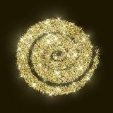 CCB de oro de la textura del Año Nuevo del extracto del vector del círculo del brillo del oro Foto de archivo
