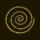 CCB de oro de la textura del Año Nuevo del extracto del vector del círculo del brillo del oro Fotografía de archivo libre de regalías