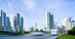CCB de Torre en el costera 3 del cinta en el pty de ciudad de Panamá Imagen de archivo libre de regalías