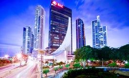 CCB de Torre en el costera 3 del cinta en el pty de ciudad de Panamá Imágenes de archivo libres de regalías