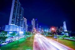 CCB de Torre en el costera 3 del cinta en el pty de ciudad de Panamá Fotografía de archivo libre de regalías
