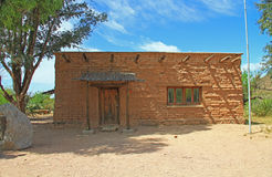 Ccc-Museum auf Ranch La Posta Quemada im kolossalen Höhlen-Gebirgspark stockbild