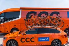 CCC Sprandi波尔科维采队自行车 图库摄影