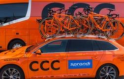 CCC Sprandi Polkowice drużyny rowery Zdjęcie Royalty Free