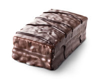 Cccoa cake. Cocoa cake covered with chocolate Royalty Free Stock Photography