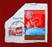CCCP soviet postcard Stock Image