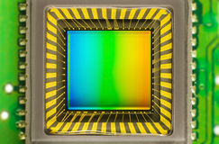 CCD sensor on a card Royalty Free Stock Images