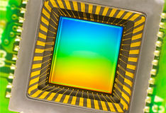 CCD sensor on a card Royalty Free Stock Photo