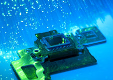 CCD sensor on a card of digital camera Royalty Free Stock Images