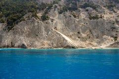 CCear błękitne wody w Lefkada wyspie, Grecja -2 Obrazy Stock