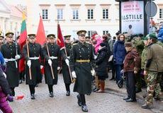 Ccelebration av självständigheten av Litauen Arkivbild