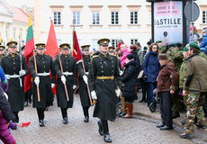 Ccelebration of the independence of Lithuania Stock Photography