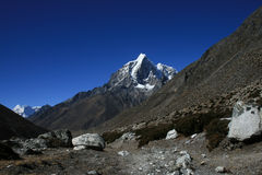 Cchukhung view. Mountains near Cchukhung village. Nepal 2008 Stock Photography