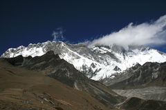 Cchukhung view. Mountains near Cchukhung village. Nepal 2008 Stock Photo