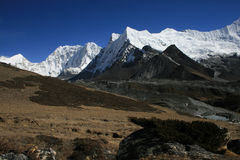 Cchukhung view. Mountains near Cchukhung village. Nepal 2008 Royalty Free Stock Photos