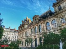 CCi building in the Lyon old town, Vieux Lyon, France Stock Photography