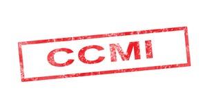 CCMI in red rectangular stamp Royalty Free Stock Photo