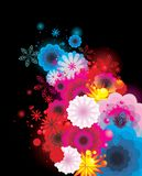 Ccolor flowers illustration  Royalty Free Stock Photography