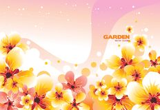 Ccolor flowers illustration  Royalty Free Stock Photo