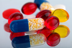 Ccolourful pills and capsules Stock Photo