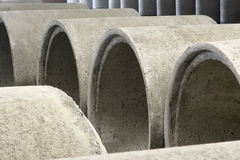 Cconcrete pipes Royalty Free Stock Photography