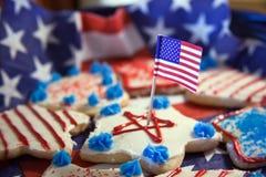 Ccookies de Jour de la Déclaration d'Indépendance Images libres de droits