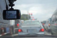 Cctv在汽车的照相机安全 免版税库存图片