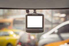 CCTV安全的汽车照相机在公路事故 免版税库存照片