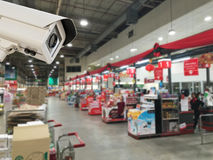 CCTV安全监控相机操作 免版税库存照片