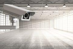 Cctv照相机在工厂 免版税图库摄影