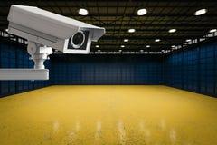Cctv照相机在工厂 库存照片
