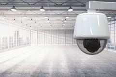 Cctv照相机在工厂 免版税库存照片